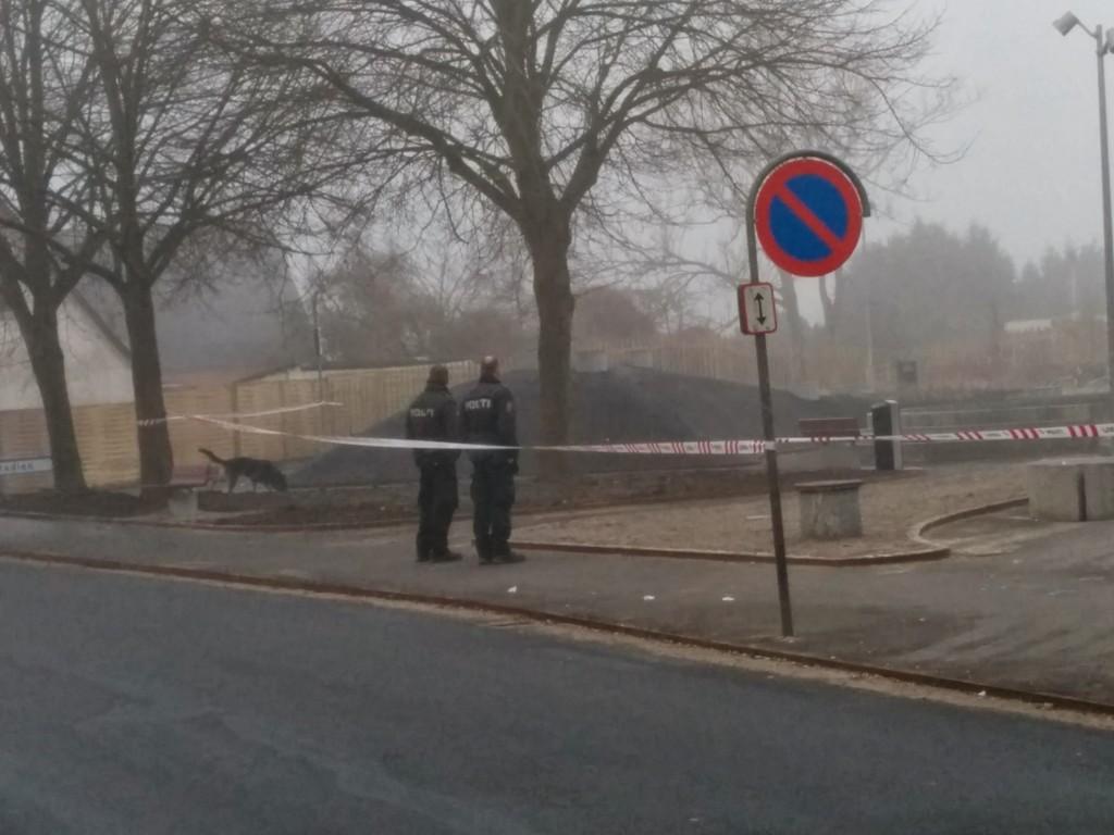 Politihunden afsøger Aarup nye torv