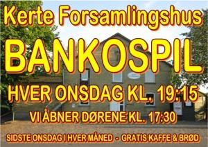 Bankospil i Kerte Forsamlingshus @ Støtteforeningen for Kerte Forsamlingshus | Aarup | Danmark