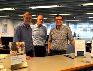 Lasse Djernæs Sørensen, Søren Stokholm og Raphael Curreaux Neerholt fra Danske Bank, Aarup