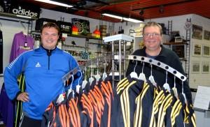 """Martin """"Ulli"""" Nielsen og John Hansen fra Markussen Sport"""