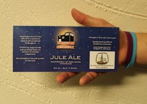 Aarup Bryghus og SBS havde i fællesskab designet den etiket der prydede de øl, der blev udleveret ved besøget på bryggeriet.