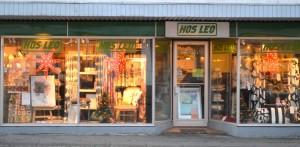 Hos Leo's facade på Bredgade. Hos Leo har åbent hver torsdag eller efter aftale.