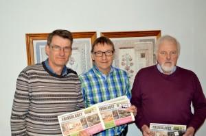 På billedet ses Claus Jacobsen fra Folkebladet sammen med Henrich Svendsen og Hans Walmar fra Aarup.dk.