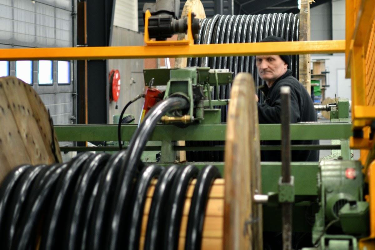 Endnu en ordre er på vej ud fra Scankab Cables. Her er det til Norge Foto: MJ