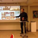 Martin Juhl præsenterer gamle og nye tiltag på Aarup.dk. Foto: H.S.