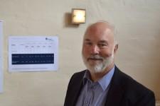 Kerte Forsamlingshus - Fmd. Lars Christian Pedersen Der var kl.11 afgivet 74 stemmer (13,99%) Det er 4 mere end i 2011 og svarer næsten til stigningen af stemmeberettigede der er steget med 3. Foto MJ