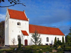 Skydebjerg Kirke. By Bococo (Own work) [CC BY-SA 3.0 (http://creativecommons.org/licenses/by-sa/3.0)], via Wikimedia Commons