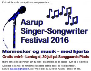 Annonce til Aarup-dk - Songwriter Festival 2016