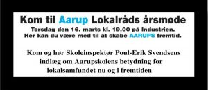 Årsmøde i Aarup Lokalråd @ Industrien | Aarup | Danmark