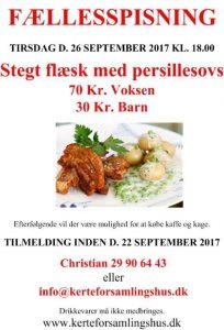 FÆLLESSPISNING I KERTEFORSAMLINGSHUS @ Kerteforsamlinshus | Aarup | Danmark