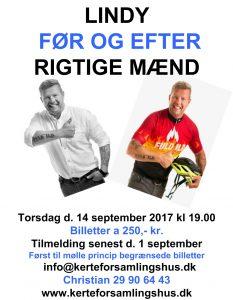 LINDY FØR OG EFTER RIGTIGE MÆND @ Kerteforsamlingshus | Aarup | Danmark