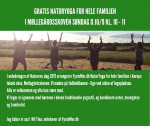 Gratis NaturYoga for hele familien @ Møllegårdsskoven   Aarup   Danmark