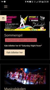 Det nye udseende af http://www.frobjerg.dk på en mobil
