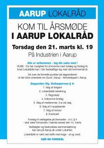 ÅRSMØDE I AARUP LOKALRÅD @ Industrien Aarup