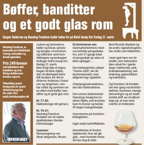 BØF, BANDITTER OG ET GODT GLAS ROM @ Hotel Aarup Kro