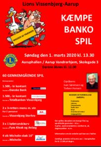 Kæmpe Banko spil @ Den gamle hal | Aarup | Danmark