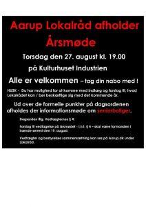 Årsmøde i Aarup Lokalråd @ Industrien Aarup | Aarup | Danmark