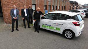 Præsentation af Byens bil @ p-pladsen ved Totalbanken | Aarup | Danmark