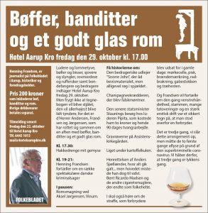 Bøffer, banditter og et godt glas rom @ Hotel Aarup Kro