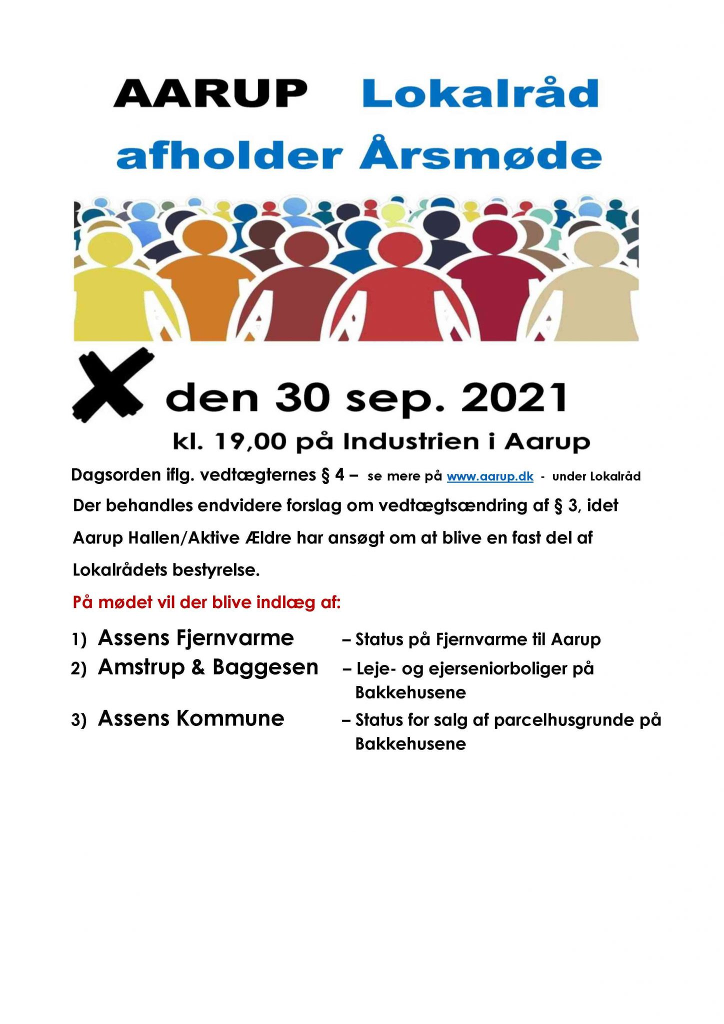 Aarup Lokalråd afholder Årsmøde